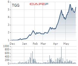 Tăng nóng 450%, cổ phiếu TGG bị đưa vào diện kiểm soát để bảo vệ nhà đầu tư - Ảnh 1.