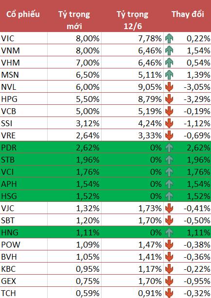 VNM ETF thêm mới 6 cổ phiếu PDR, STB, VCI, APH, HSG và HNG trong kỳ review quý 2/2021 - Ảnh 1.