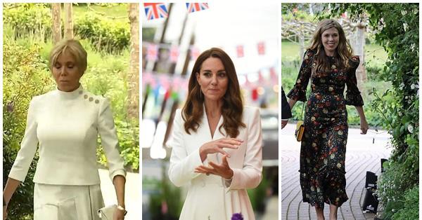 Công nương Kate đọ sắc với các Đệ nhất phu nhân trong bộ đầm giản dị, trở thành tâm điểm chú ý bởi loạt hành động tinh tế - Ảnh 1.