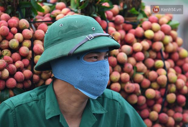 Bắc Giang: Kiếm tiền triệu từ việc đẩy xe chở vải lên dốc cầu phao trong mùa thu hoạch - Ảnh 14.