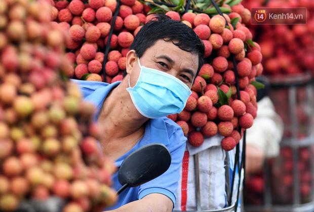 Bắc Giang: Kiếm tiền triệu từ việc đẩy xe chở vải lên dốc cầu phao trong mùa thu hoạch - Ảnh 15.