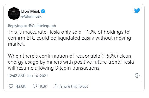 Bitcoin tăng vọt sau tuyên bố mới nhất của Elon Musk - Ảnh 1.