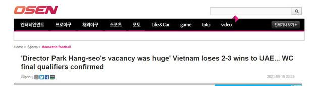 Báo Hàn Quốc: Sự thiếu vắng HLV Park Hang-seo quá chí mạng - Ảnh 1.