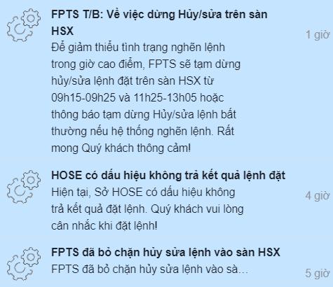 Nhiều CTCK đưa ra thông báo sẽ chặn Hủy/Sửa lệnh trên sàn HoSE để giảm thiểu tình trạng nghẽn lệnh - Ảnh 2.