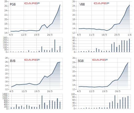 Một cổ phiếu ngân hàng tăng giá gấp đôi sau 2 tuần giao dịch - Ảnh 1.
