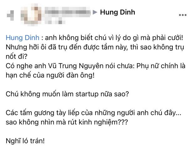 Vừa cầu hôn MC xinh đẹp, Hùng Đinh đã nhận được lời khuyên có nghe anh Vũ Trung Nguyên nói của bạn: Cách CEO đáp lại mới đáng chú ý  - Ảnh 1.