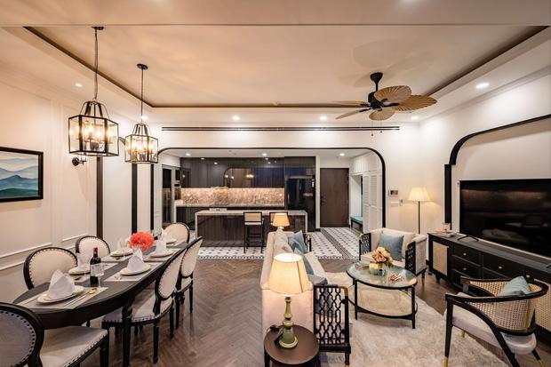 Căn hộ Indochine ăn điểm với cách phối màu cực tinh tế, phòng ngủ chuẩn khách sạn 5 sao với view đỉnh - Ảnh 9.