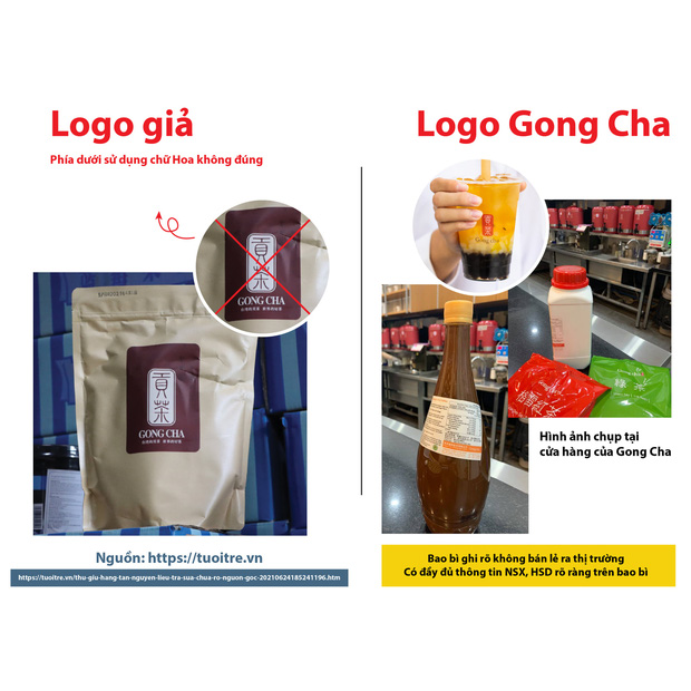 Ma trận nguyên liệu trà sữa Gong Cha giả trên Shopee, giá siêu rẻ với lời rao bán 1 lời 10 - Ảnh 1.