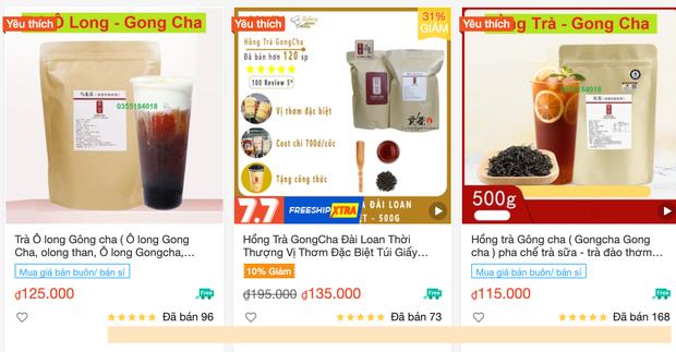 Ma trận nguyên liệu trà sữa Gong Cha giả trên Shopee, giá siêu rẻ với lời rao bán 1 lời 10 - Ảnh 2.