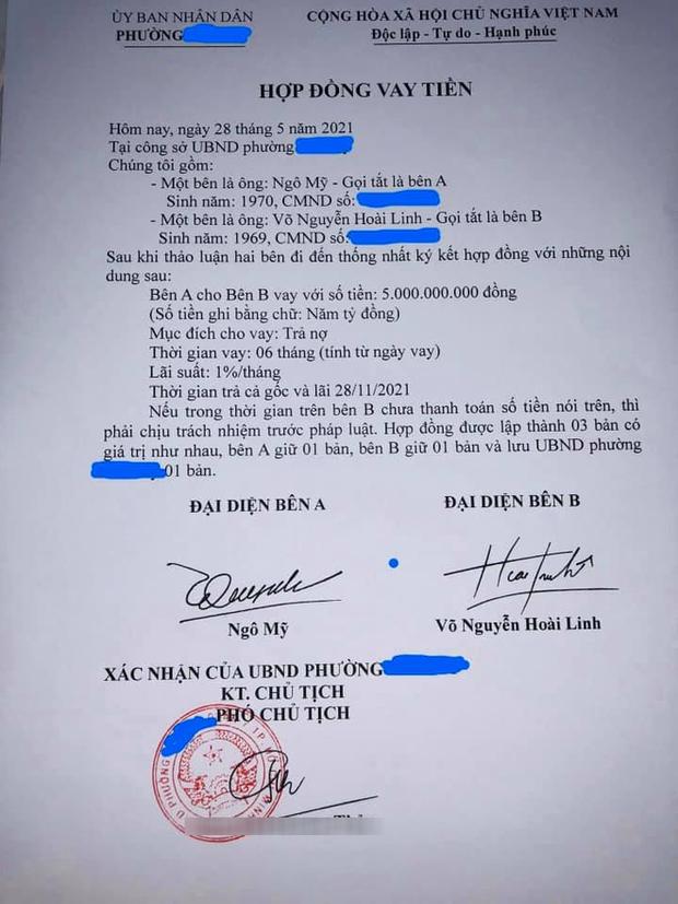 UBND phường Phú Mỹ chính thức thông tin về giấy vay nợ 5 tỷ đồng được cho là của NS Hoài Linh - Ảnh 1.