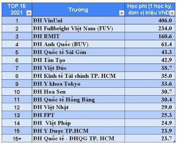 VinUni, BUV, RMIT, FUV... và top 16 trường ĐH chỉ dành cho con nhà giàu, học phí cao nhất Việt Nam - Ảnh 1.