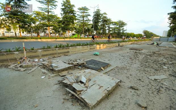 Ảnh: Đại lộ nghìn tỷ Chu Văn An nhếch nhác rác thải, vật liệu xây dựng sau 7 năm thi công - Ảnh 5.