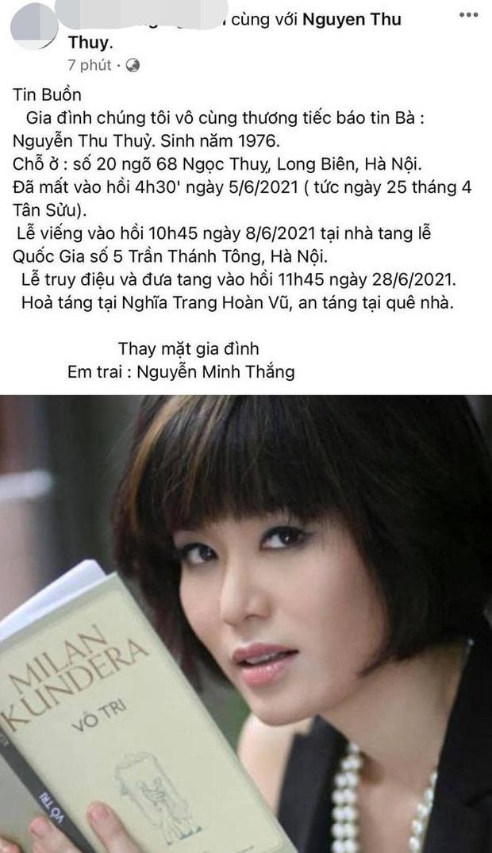 Hoa hậu Việt Nam Nguyễn Thu Thuỷ đột ngột qua đời - Ảnh 2.