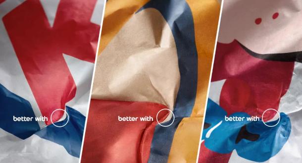 Marketing xoắn não như Pepsi: Chỉ ra logo của mình trên giấy gói của những chuỗi đồ ăn nói không với Pepsi - Ảnh 1.