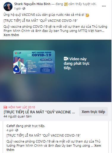 Các doanh nhân đồng loạt chia sẻ về sự kiện ra mắt Quỹ Vaccine COVID-19: Cả nước chung tay, nhất định thắng dịch! - Ảnh 3.