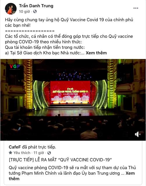 Cây săn bàn Danh Trung, hoa khôi bóng chuyền Linh Chi và loạt VĐV, cầu thủ theo dõi, đồng lòng kêu gọi ủng hộ Quỹ vaccine phòng COVID-19 - Ảnh 1.