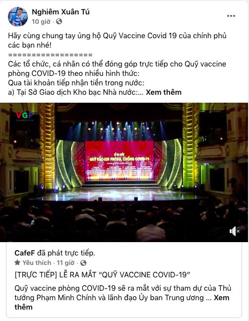Cây săn bàn Danh Trung, hoa khôi bóng chuyền Linh Chi và loạt VĐV, cầu thủ theo dõi, đồng lòng kêu gọi ủng hộ Quỹ vaccine phòng COVID-19 - Ảnh 3.