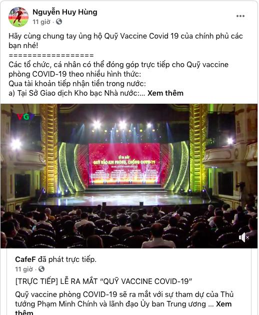Cây săn bàn Danh Trung, hoa khôi bóng chuyền Linh Chi và loạt VĐV, cầu thủ theo dõi, đồng lòng kêu gọi ủng hộ Quỹ vaccine phòng COVID-19 - Ảnh 4.