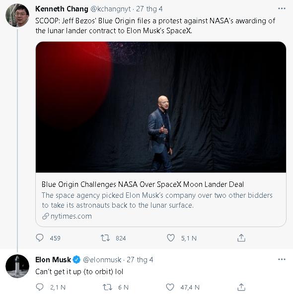 Mối thâm thù suốt 15 năm giữa Jeff 591097 Bezos và Elon Musk: Cà khịa nhau Không thể dựng lên được, tag hẳn tên đối thủ yêu cầu giải tán công ty - Ảnh 2.