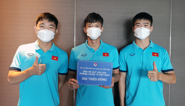 Tuyển Việt Nam chung tay ủng hộ 300 triệu đồng vào Quỹ vắc-xin phòng, chống COVID-19 - Ảnh 1.