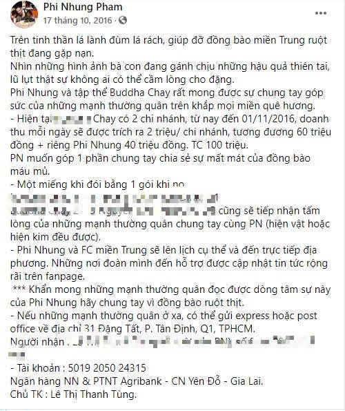 """Phi Nhung bị netizen soi lại điểm bất thường trong 2 đợt kêu gọi từ thiện miền Trung, """"ngâm"""" sao kê 1,8 tỷ suốt 5 năm chưa công khai?  - Ảnh 1."""
