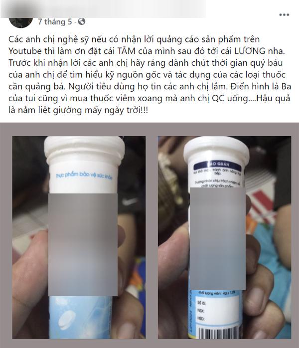 Đã có người gặp họa sau khi tin dùng thuốc được quảng cáo trên mạng: Chuyên gia nói chớ nhầm lẫn nghệ sĩ là bác sĩ! - Ảnh 1.