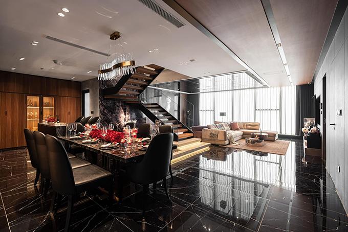 Penthouse 20 tỷ với gam màu đen huyền bí và sang trọng của 9X độc thân: Mạnh tay chốt đơn thiết kế lên tới 6 tỷ - Ảnh 1.