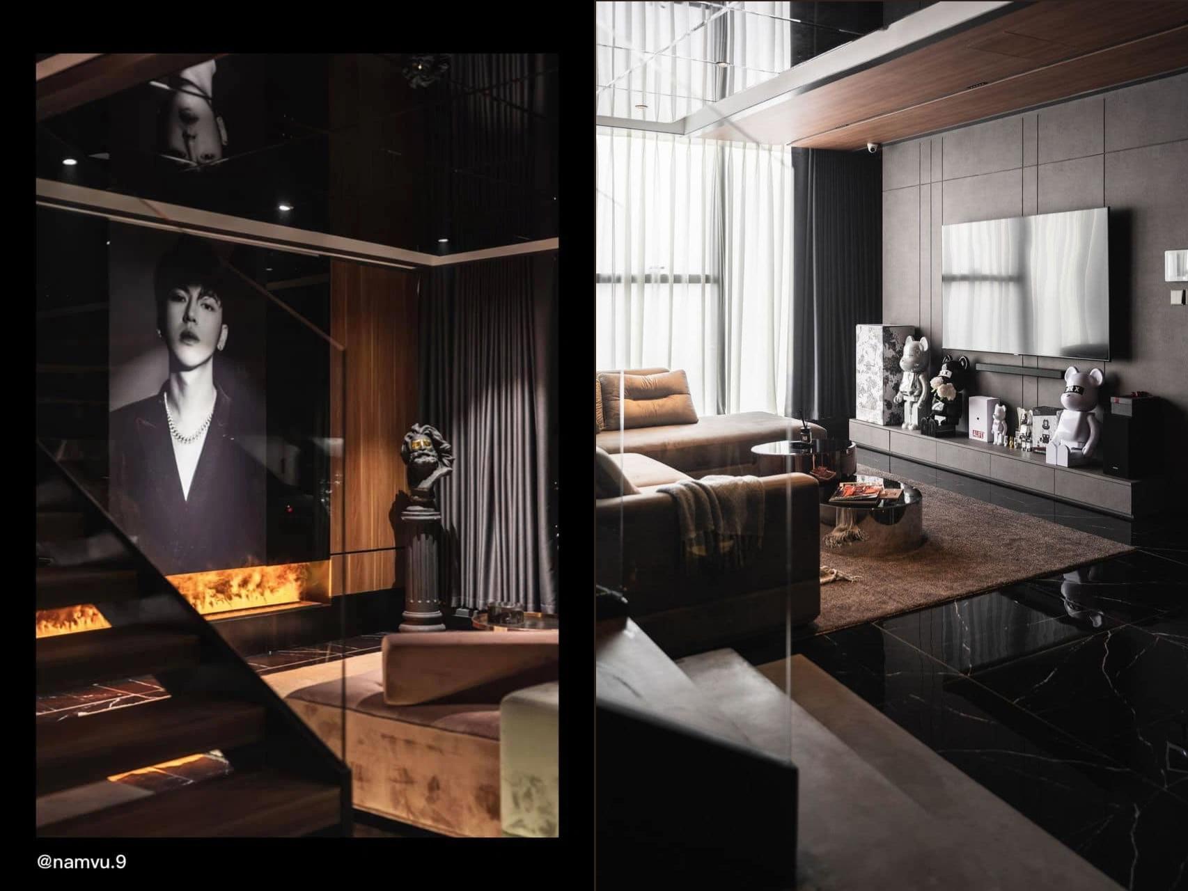 Penthouse 20 tỷ với gam màu đen huyền bí và sang trọng của 9X độc thân: Mạnh tay chốt đơn thiết kế lên tới 6 tỷ - Ảnh 9.