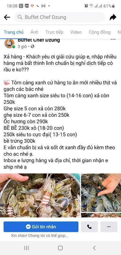 Trước giờ ngừng bán, nhiều nhà hàng tại Hà Nội livestream giải cứu hải sản - Ảnh 2.