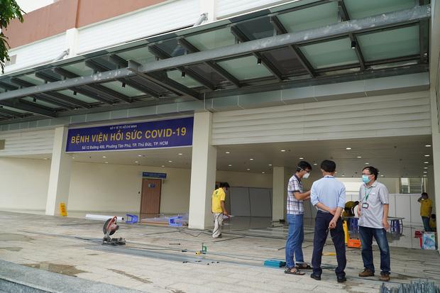 Ảnh: Bên trong Trung tâm Hồi sức Covid-19 với 1.000 giường, chuyên trị những ca bệnh nguy kịch tại TP.HCM - Ảnh 1.