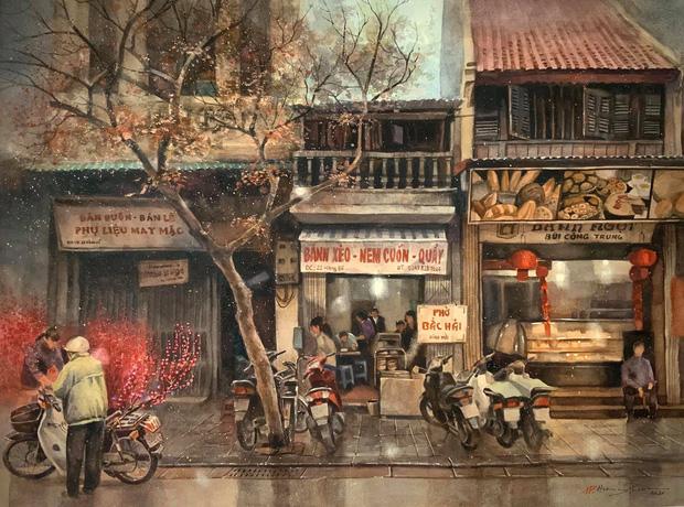 Bộ tranh Hà Nội có sức lan toả nhất lúc này: Một thủ đô đẹp thổn thức qua góc nhìn của người con Sài Gòn - Ảnh 12.