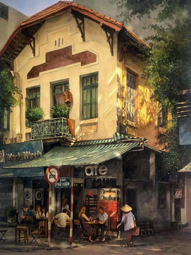 Bộ tranh Hà Nội có sức lan toả nhất lúc này: Một thủ đô đẹp thổn thức qua góc nhìn của người con Sài Gòn - Ảnh 14.