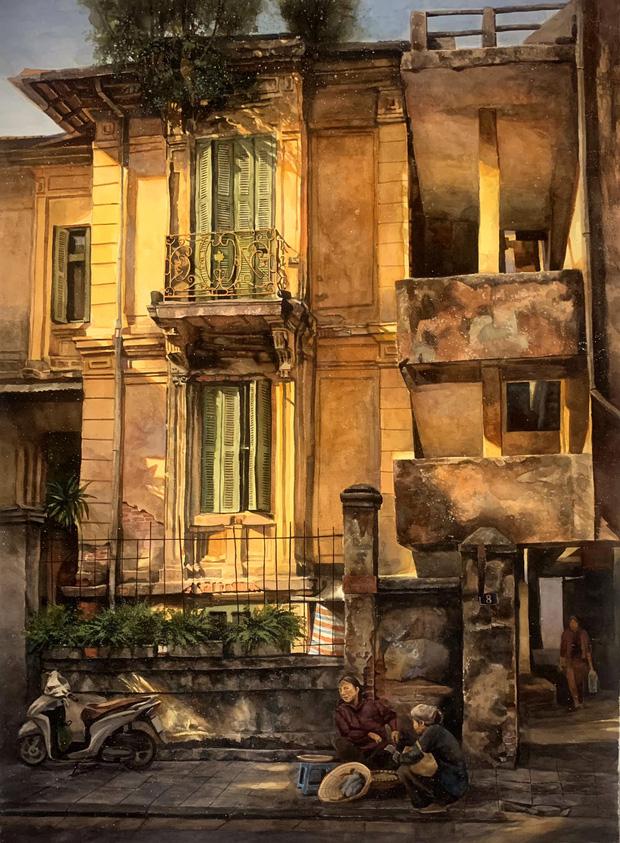 Bộ tranh Hà Nội có sức lan toả nhất lúc này: Một thủ đô đẹp thổn thức qua góc nhìn của người con Sài Gòn - Ảnh 15.