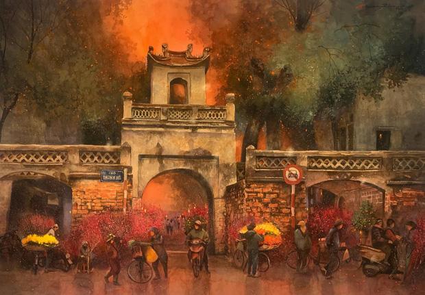 Bộ tranh Hà Nội có sức lan toả nhất lúc này: Một thủ đô đẹp thổn thức qua góc nhìn của người con Sài Gòn - Ảnh 24.