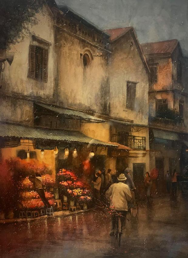 Bộ tranh Hà Nội có sức lan toả nhất lúc này: Một thủ đô đẹp thổn thức qua góc nhìn của người con Sài Gòn - Ảnh 28.