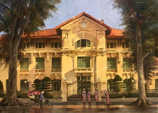 Bộ tranh Hà Nội có sức lan toả nhất lúc này: Một thủ đô đẹp thổn thức qua góc nhìn của người con Sài Gòn - Ảnh 6.