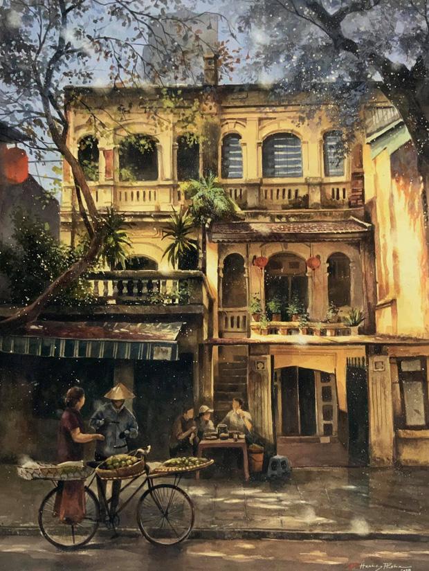 Bộ tranh Hà Nội có sức lan toả nhất lúc này: Một thủ đô đẹp thổn thức qua góc nhìn của người con Sài Gòn - Ảnh 8.