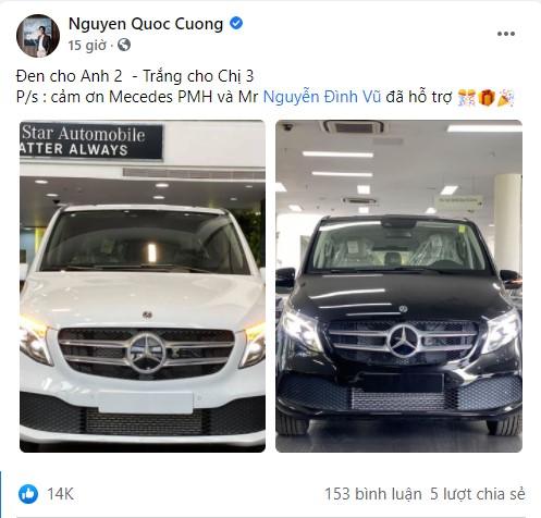 Doanh nhân Cường Đô La sắm 2 siêu xe tiền tỷ cùng lúc để tặng anh 2, chị 3, bất chấp con gái phải ít nhất 18 năm nữa mới có thể tự lái - Ảnh 1.