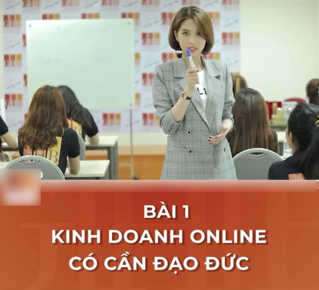CEO Ngọc Trinh nghiêm túc giảng bài: Kinh doanh online cần có đạo đức - Ảnh 3.
