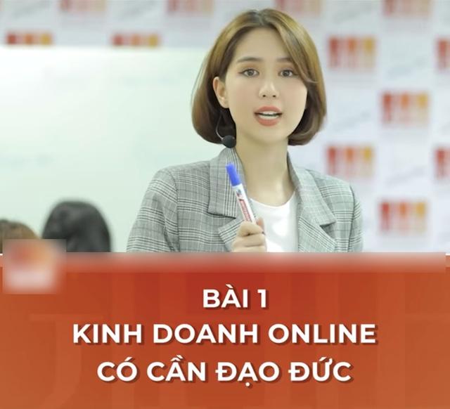 CEO Ngọc Trinh nghiêm túc giảng bài: Kinh doanh online cần có đạo đức - Ảnh 4.