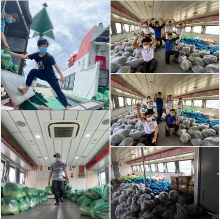 Tàu cao tốc 5 sao tháo hết ghế hành khách để chở thực phẩm, rau xanh cho TP HCM: Bình tâm nhé, dịch sẽ sớm qua thôi! - Ảnh 5.