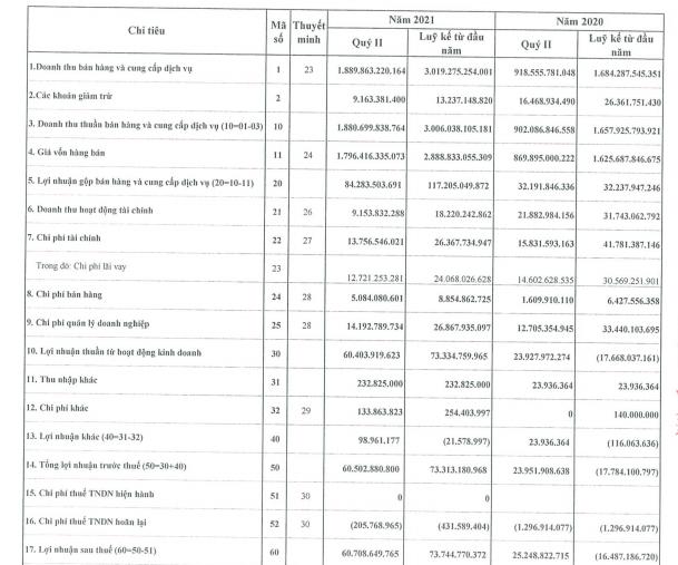 Thép Việt Ý (VIS) lãi gần 61 tỷ đồng quý 2, tăng 141% so với cùng kỳ 2020 - Ảnh 2.