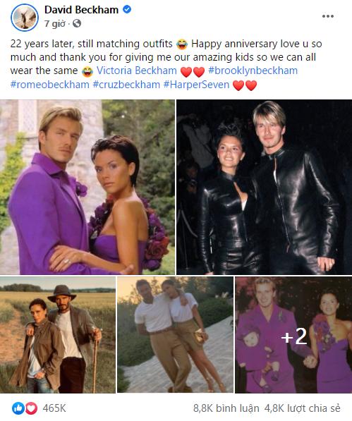 Hôn nhân 22 năm của David Beckham qua bài đăng 465 nghìn like: Chiếc nhẫn cầu hôn gần 2 tỷ và hàng loạt lời tố ngoại tình! - Ảnh 1.