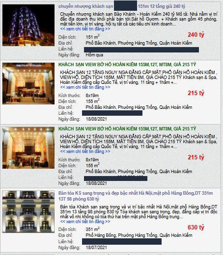 Giữa mùa dịch khách sạn phố cổ Hà Nội rao bán gần 2 tỷ đồng/m2 - Ảnh 2.