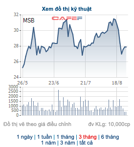 Công ty của thành viên HĐQT Ngân hàng Hàng Hải đã bán 8 triệu cổ phiếu MSB - Ảnh 1.