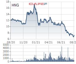 HNG: Dù HAGL đã dừng bán trước phản ứng của Thaco, cổ phiếu vẫn liên tục giảm sâu hơn 60% kể từ đầu năm - Ảnh 1.