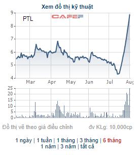 PTL vừa có chuỗi tăng trần ấn tượng, công ty liên quan tới chủ tịch đăng ký mua 15 triệu cổ phiếu - Ảnh 1.