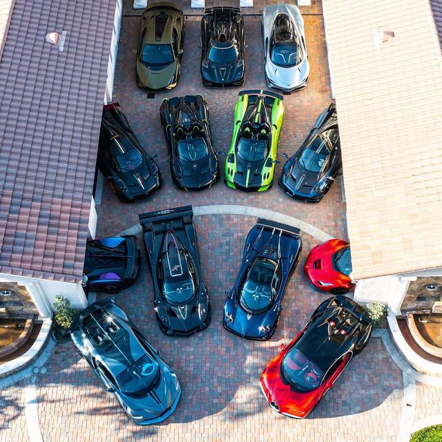 Đại gia cuồng Pagani: Tậu 7 chiếc, nhìn bộ sưu tập có thêm Bugatti, Lamborghini, Ferrari mà vừa mê vừa hoảng  - Ảnh 4.