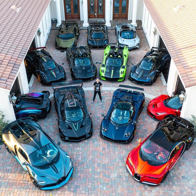 Đại gia cuồng Pagani: Tậu 7 chiếc, nhìn bộ sưu tập có thêm Bugatti, Lamborghini, Ferrari mà vừa mê vừa hoảng  - Ảnh 5.