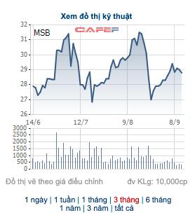 Vừa mua vào 6,3 triệu cổ phiếu được nửa tháng, nhóm cổ đông lớn của MSB lại bán ra 5 triệu cổ phiếu - Ảnh 1.